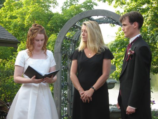 """Thank you so much for all your assistance and work in putting together and performing our ceremony.  It was wonderful and we recieved many compliments.""""...Our officiant, Chris Love was a calming presence at the front. She gave us exactly the kind of ceremony we wanted and I have nothing but praise for her and the experience she gave us."""